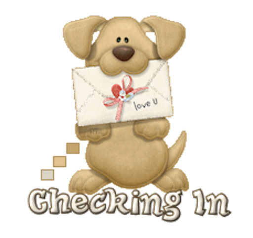 Checking In - PuppyLoveULetter