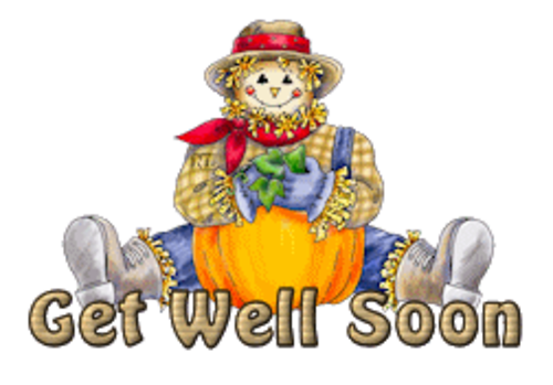 Get Well Soon - AutumnScarecrowSitting