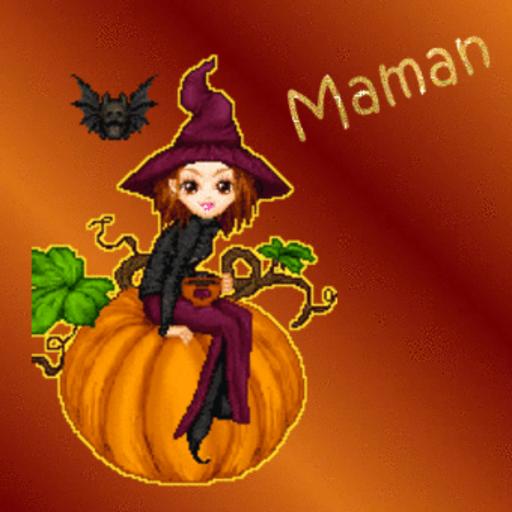Maman - Witch&Pumpkin-Sandra-Sept 26, 2018