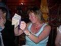 Saint Petersburg, Podvorie Restaurant - Freda getting into the spirit...