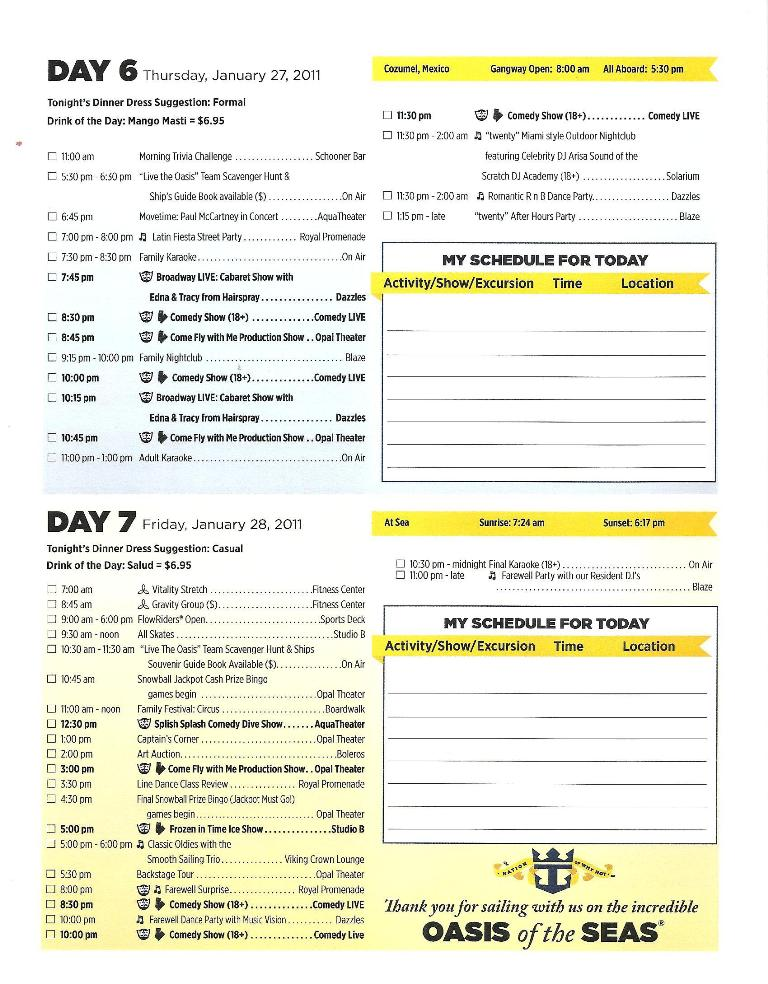 OASIS DAILY PLANNER PG 4