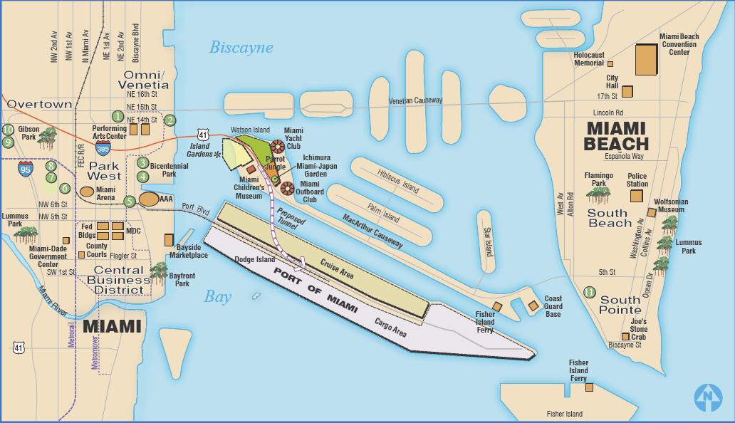 Ship Direction In Miami Cruise Critic Message Board Forums - Miami cruise ship terminal