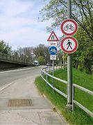 Radfahrverbot auf benutzungspflichtigem Radweg!
