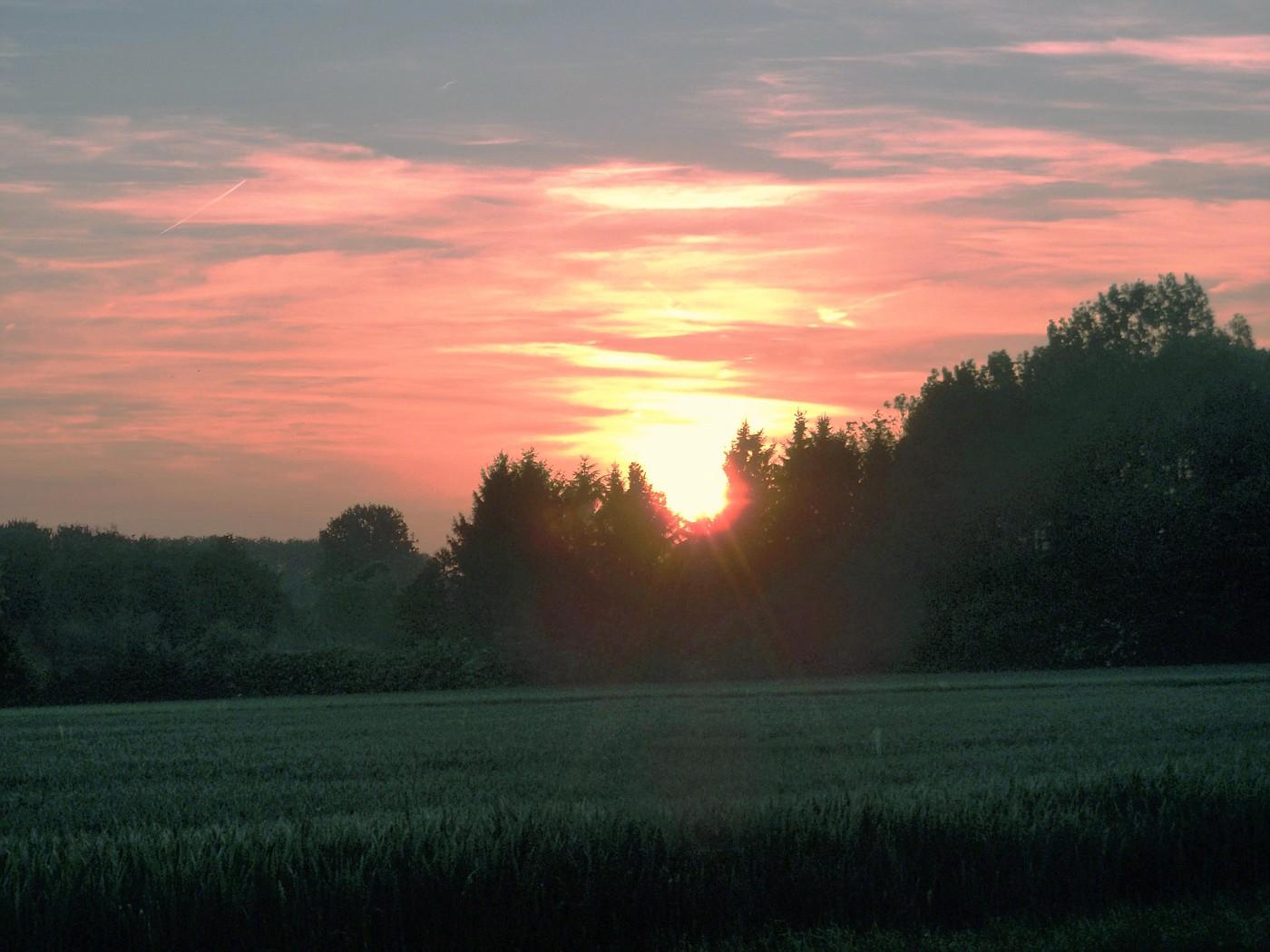 Wallonischer Sonnenuntergang