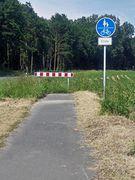 Radweg-Ende