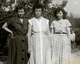 "Mildred AUSTIN West, Pearlie FORD Austin, Sarah M. ""Lissie"" West."