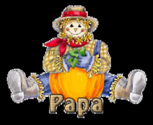 Papa - AutumnScarecrowSitting