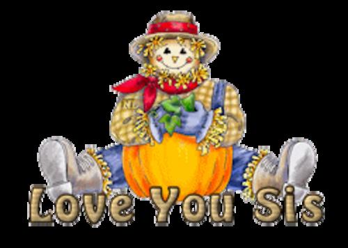 Love You Sis - AutumnScarecrowSitting