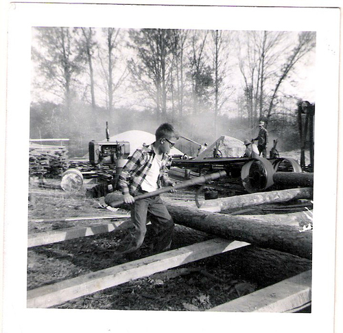 72-Uncle Del  The saw mill was owned by Great-Grandpa Shelby Laxton